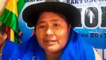 Ejecutiva saliente de las Bartolinas dice que en el MAS hay un 'equipo de mentirosos' que hace equivocar a Evo Morales