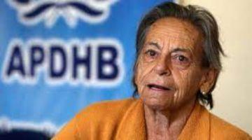 """Amparo Carvajal denuncia que """"hay intereses muy fuertes"""" para tomar la Apdhb"""