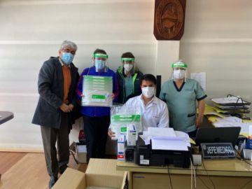 Laboratorios Terbol S.A. entregó mil máscaras de bioseguridad de protección facial