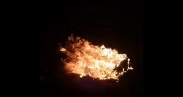 Comunarios de Jesús Valle encendieron fogatas para defender sus tierras