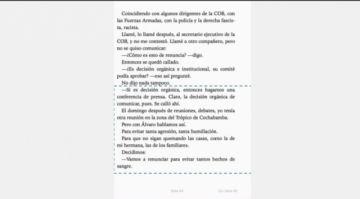 En sus memorias, Morales dice que decidió renunciar el 9 de noviembre; el 10, el pedido de la COB confirmó su decisión