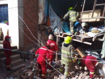Fuga de gas causa daños en una vivienda en Potosí