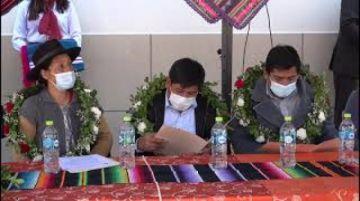 Gobernación entrega edificio del Sedeges en Potosí