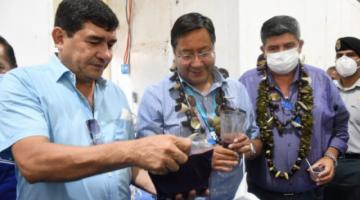 Presidente Arce en entrega de obras promociona al candidato del MAS a gobernador de Pando