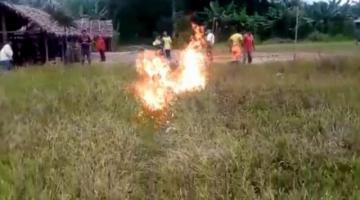 En comunidad tsiman queman vivo a un indígena acusado de asesinar a 2 personas
