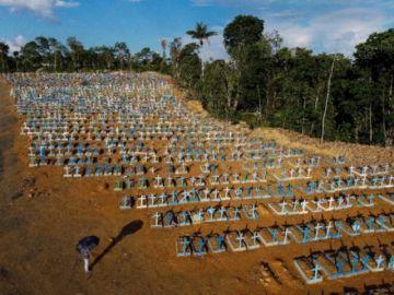 Brasil registra por primera vez más de 4.000 muertos por covid en 24 horas