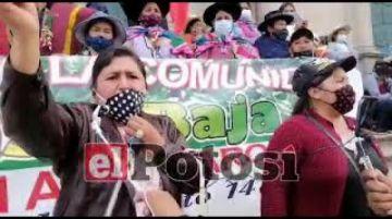 Pobladores del distrito 14 marchan en contra de avasallamiento