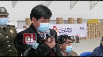 Entregan insumos y medicamentos por más de dos millones de Bolivianos