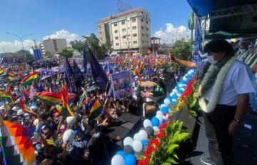 Evo Morales dijo que la concentración en Cochabamba era necesaria para demostrar fuerza