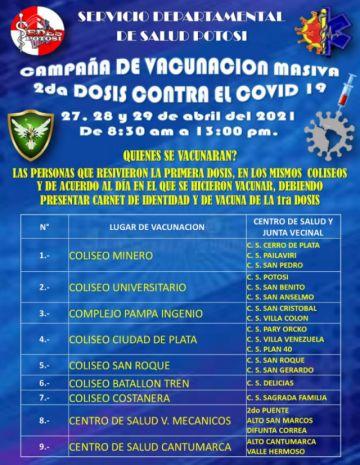 Potosí se encamina a la tercera ola de coronavirus, según datos del Sedes