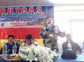 Acusan a Evo Morales y Juan Ramón Quintana de dividir en el sudoeste potosino