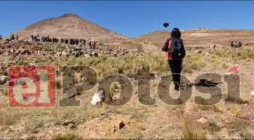 Surgen enfrentamientos en Puck'a Loma, un cerro de las afueras de Potosí