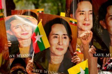 Aung San Suu Kyi inicia su cuarto mes de detención y las protestas en Birmania no ceden