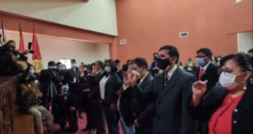 Así fueron posesionados el alcalde y concejales de Potosí