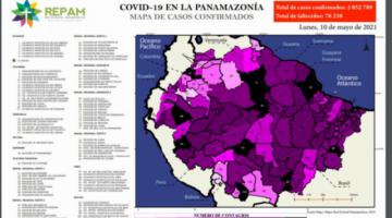 Covid-19 en la Panamazonía: 2.852.789 casos confirmados y 76.238 muertos