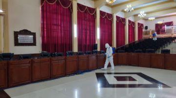 Realizan desinfección en la Asamblea Legislativa Departamental de Potosí ante brote covid