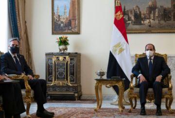 Blinken se entrevistó con Sisi en Egipto en pos de consolidar el alto el fuego en Gaza