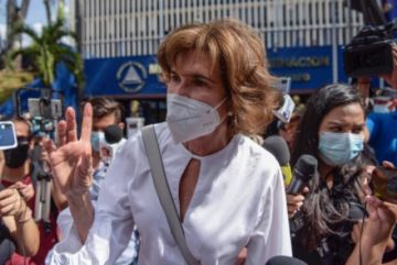 "Ortega ""ordenó que me acusaran"", dice opositora Chamorro en Nicaragua"