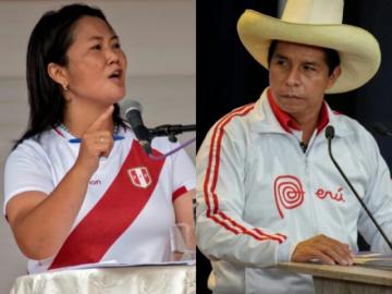 La hora de la verdad entre Fujimori y Castillo llega al convulsionado Perú