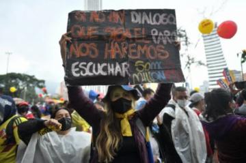 Miles protestan en Colombia durante visita de la Comisión Interamericana de Derechos Humanos