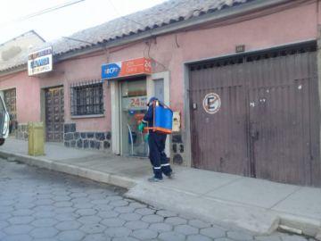 Sedes desinfectó los cajeros automáticos de la ciudad