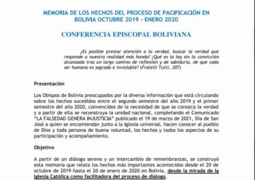 Iglesia Católica entrega al Papa y a la Fiscalía informe sobre la pacificación en la crisis de 2019