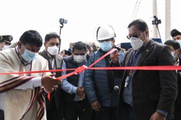Inauguran segunda planta de oxígeno en el Centro Covid de Potosí