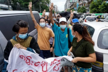 Reportan que hay seis muertos en Birmania en enfrentamientos con las fuerzas de seguridad