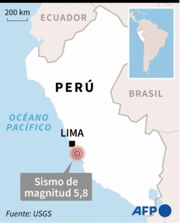 Un sismo de magnitud 6,0 sacude Lima y la costa central de Perú
