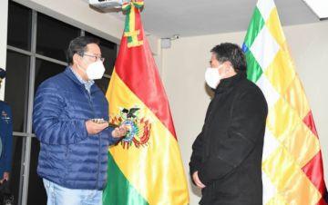 Luis Arce viaja a Venezuela para una visita oficial y deja el mando a David Choquehuanca