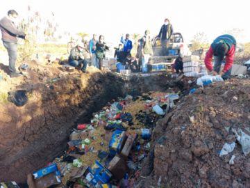 Destruyen en Tarija 8,5 toneladas de productos que ingresaron de forma irregular desde Argentina