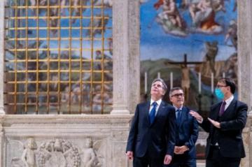 El Papa recibe en el Vaticano a secretario de Estado de Estados Unidos, Antony Blinken