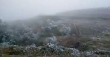 Nieve y bajas temperaturas azotan valles cruceños y autoridades llaman a tomar recaudos