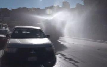 Alcaldía desarrolló la desinfección de calles en jornada de encapsulamiento
