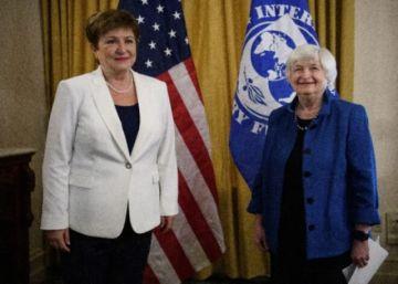 """La jefa del FMI llama al G20 a prevenir un """"doble choque devastador"""" contra los países más pobres"""