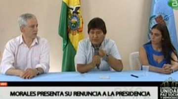 García Linera dice que Evo Morales decidió renunciar cuando militares sacaron aviones de guerra contra civiles