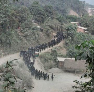 Reportan dos policías heridos tras enfrentamientos en Charopampa en disputa de tierras auríferas