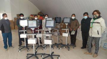 Entregan monitores para terapia intensiva de la CNS en Potosí