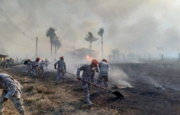Sistema de Alerta Temprana de la Armada permite sofocar incendio en Puerto Quijarro