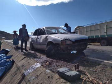 Reportan un fallecido y heridos a causa de accidentes de tránsito en Potosí