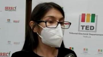 """""""Expresidenta"""" del TED de Tarija exige al TSE pronunciarse ante la ilegal """"destitución"""" de vocales"""
