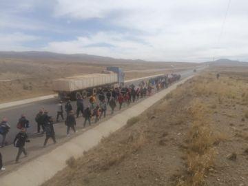 Mineros de Andacaba marchan a La Paz por la nacionalización de yacimiento
