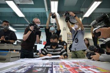 Reportan la detención  en Hong Kong de un exjefe de redacción del diario Apple Daily