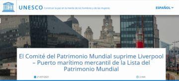 La Unesco empieza a retirar ciudades de la lista del Patrimonio Mundial