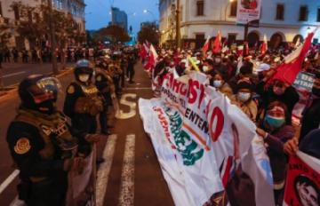 Reportan que habrá diez mil policías para investidura de Pedro Castillo en Perú