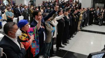 Presidente Luis Arce descarta cambios en su gabinete de ministros