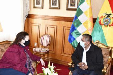 Mayta y Phillips se reúnen para 'impulsar' temas de la agenda bilateral entre Bolivia y EEUU
