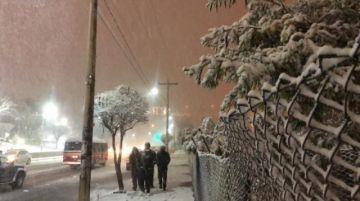 Nevada en Potosí cubre de un manto blanco la ciudad