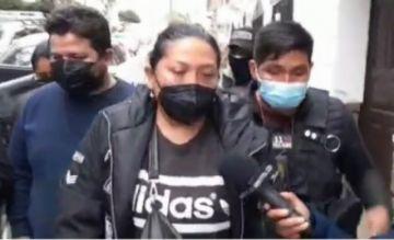 Milena Soto de la RJC fue llevada a Sucre y se abstuvo a declarar tras su aprehensión