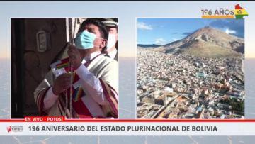 Así se desarrollan los actos cívicos en homenaje a Bolivia en Potosí